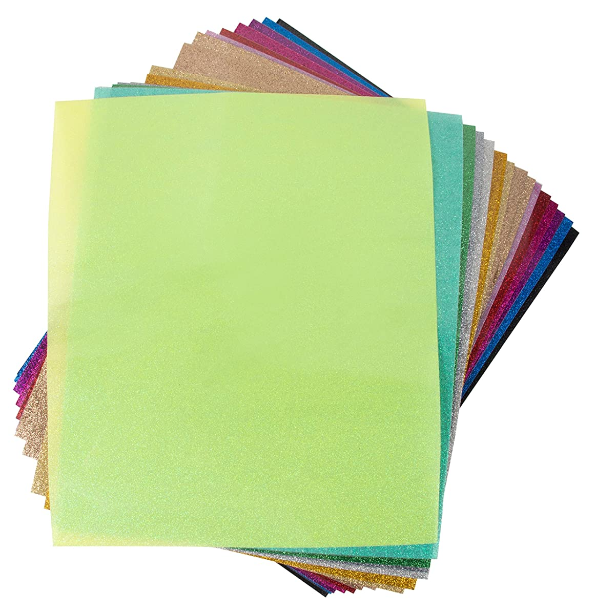 15 Pack Vinyl Sheets for Heat Transfer Projects & Adhesive Application - Assorted Colors, 9.8 x 11.8 Inches