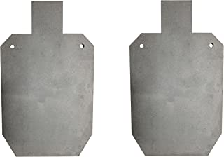 """Pair of Titan AR500 Silhouette Style Steel Plate Shooting Targets 20""""x12"""" 3/8"""" Thick"""