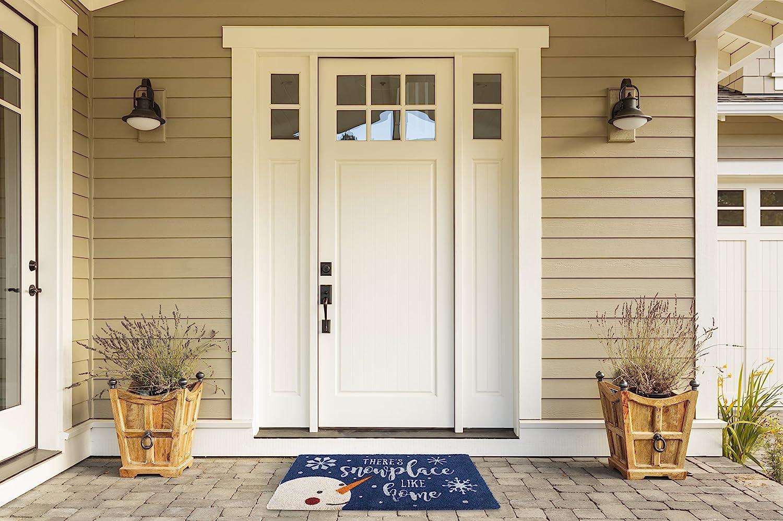 Dachshund Through The Snow DII Indoor//Outdoor Natural Coir Holiday Season Doormat 18x30