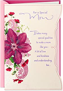 Hallmark Birthday Greeting Card for Mom (Purple Flower) - 0549RZB1205