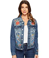 Blank NYC - Denim Embroidered Jacket in Wild Child