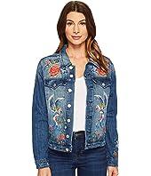 Blank NYC - Denim Embroidered Jacket in Wild Child