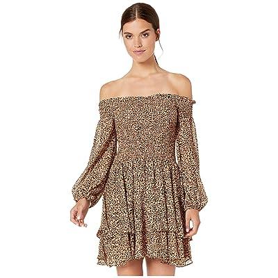 Bardot Lucienne Frill Dress (Ocelot) Women