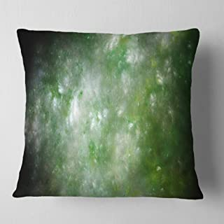 Designart Blur Green Starry Fractal Sky' Abstract Throw Living Room, Sofa, Pillow Insert + Cushion Cover Printed On Both S...