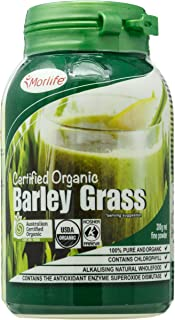 Morlife Barley Grass Powder (Certified Organic), 200 grams