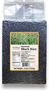 ONETANG Steamed Black Rice No Additives Gluten-Free Non-GMO 64oz (4 lbs)