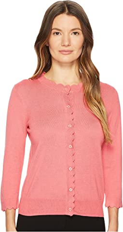 Kate Spade New York Rambling Roses Scallop Cardigan