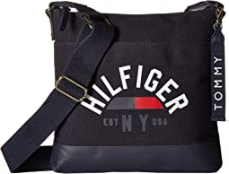 Tommy Hilfiger Carmel Large North/South Logo Canvas Crossbody