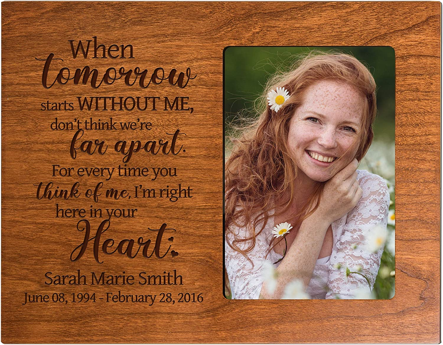 Omaha Mall LifeSong Milestones Personalized Wooden OFFer Picture Loss for Frame o