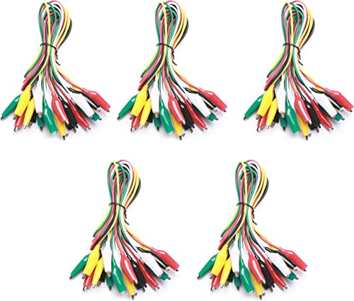 WGGE WG-026 10 Pieces and 5 Colors Test Lead Set & Alligator Clips,20.5 inches (5 Pack)
