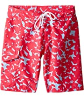 Oscar de la Renta Childrenswear - Abstract Floral Surfer Boardshorts (Toddler/Little Kids/Big Kids)