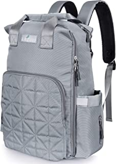 Lazuli Diaper Bag Mommy Daddy Backpack Multifunction Travel Accessory Large Capacity Changing Pad Grey