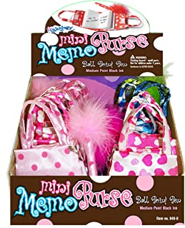 Inkology Memo Purse and Pen Set, 4 Assorted Designs, 12 Sets per Pack (648-0)