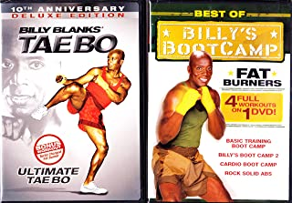 Tae Bo : Deluxe Edition Ultimate Tae Bo with Bonus Workout : Turbo Charged Fat Burner , Billy's Bootcamp Complete Series Fat Burners : Basic Training Boot Camp , Billy's Boot Camp 2 , Cardio Boot Camp , Rock Solid ABS : 2 Pack Set : 296 Minutes