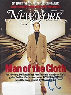 New York Magazine, August 4, 1997: Man of the Cloth, John Fairchild, the Wrathful God of Fashion and his Successor Patrick McCarthy, Alone Together: Living With a Split Personality & other articles
