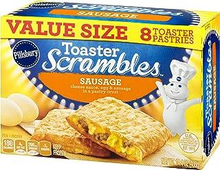 Pillsbury Toaster Scrambles, Sausage, 8 Frozen Pastries, 14 oz. Box