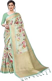 BHAKARWADi Women's Khadi Silk Saree With Blouse Piece