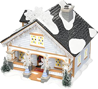 Department 56 Snow Village the Snowflake Light House, 6.7 inch