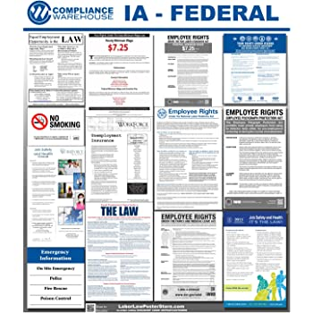 2020 Iowa State /& Federal Labor Law Posters for Workplace Compliance