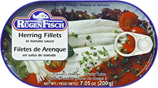 RügenFisch Herring in Tomato Sauce, 7.05 Ounce