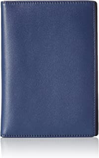 AmazonBasics Leather RFID Blocking Passport Wallet, Navy