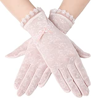 Floral Lace Gloves for Wedding Opera Party 1920s Flapper Lace Gloves Stretchy Adult Size