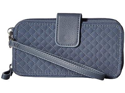 Vera Bradley Iconic RFID Smartphone Wristlet (Charcoal) Wristlet Handbags