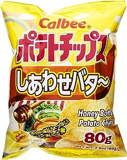 Calbee Potato Chips, Honey Butter, 2.8 Ounce (Pack of 12)