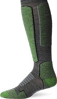 Icebreaker Merino Men's Ski+ Medium OTC Socks, Large, Gritstone HTHR/Lawn