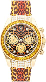 Rolex Daytona Mechanical (Automatic) Leopard Dial Mens Watch 116598 (Certified Pre-Owned)