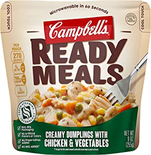 Campbell's Ready Meals, Creamy Dumplings with Chicken & Vegetables, 9 Ounce (Pack of 6)