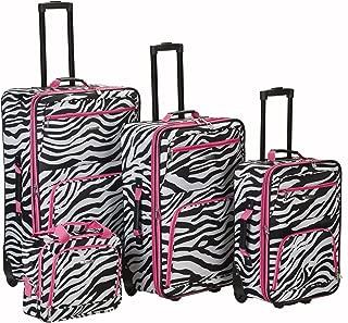 pink zebra luggage set