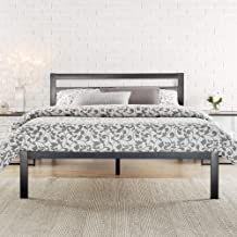 Zinus Black Modern Metal Steel Platform Double Size Bed Frame Headboard Base Mattress Foundation | Wooden Slats Under Bed ...