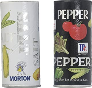 Morton Iodized Salt & McCormick Pepper Shakers, 2 count, 5.25 oz