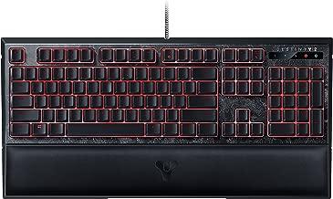 Razer Destiny 2 Ornata Chroma: Mecha-Membrane - Individually Backlit Mid-Height Keys - Leatherette Wrist Rest - Gaming Keyboard