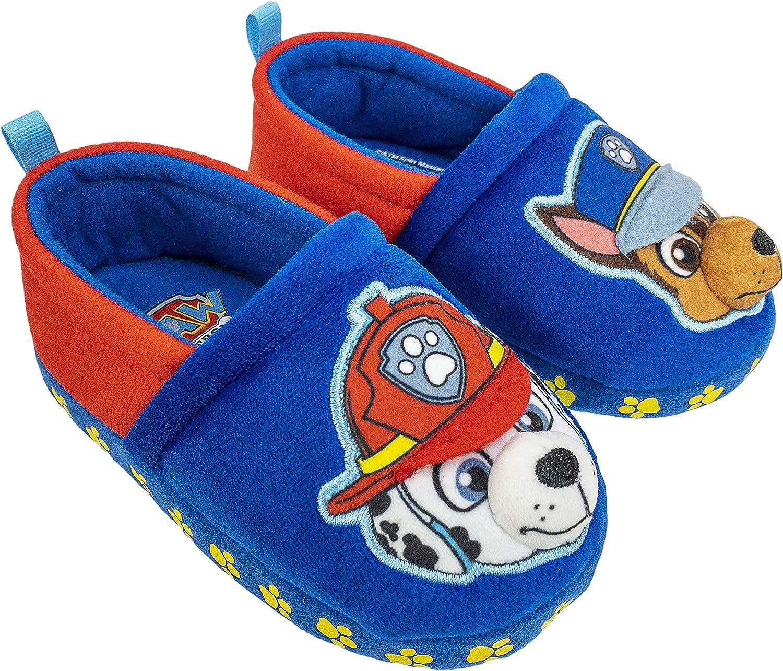 Paw Patrol Toddler Slippers,Chase Marshall,Skye Everest Plush Slipper, Toddler Size 5/6 to 11/12