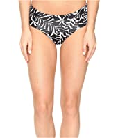Tommy Bahama - Pinwheel Palms Reversible Side-Shirred High-Waist Bikini Bottom
