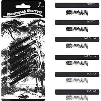 Pro Art Compressed Charcoal 2 Per Card Black