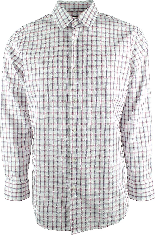 Hugo Boss BOSS Regular Fit Point Collar Check Dress Shirt 5040938 Red Multi