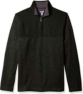 Van Heusen Men's Big and Tall Flex Long Sleeve 1/4 Zip Texture Block Soft Sweater Fleece