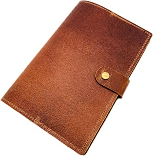 Refillable Leather Journal & Sketchbook, 6 x 9 inches 100 Sheets, 100gsm Thick Paper Classic Travel Diary Leather Notebook for Men & Women - A5 Size Brown