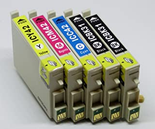 EPSON エプソン IC4CL42 IC42 ICBK31 ICC42 ICM42 ICY42 (4色セット+ブラック追加1本計5本 ブラック シアン マゼンタ イエロー) 互換インクカートリッジ
