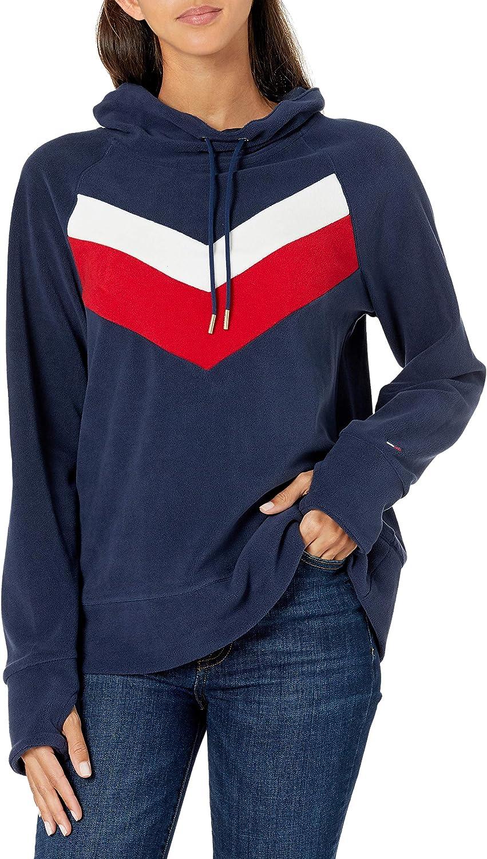 Tommy Hilfiger Women's Premium Performance Long Sleeve Fleece Pullover Sweatshirt