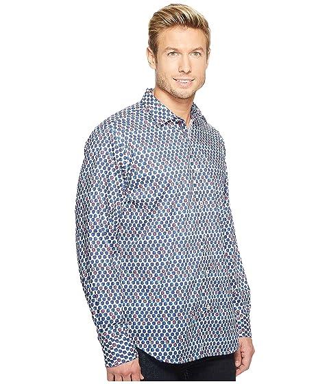 Point Classic Shirt Collar Sleeve BUGATCHI Fit Long 7Iwqf