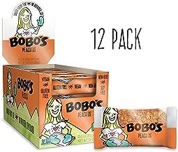 Bobo's Oat Bars, Peach, 3 oz Bar (12 Pack), Gluten Free Whole Grain Snack and Breakfast Bar