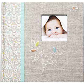 """Baby Shower photo album gift with 3D icons holds 80 6/"""" x 4/"""" photos CG1056"""