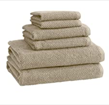 100% Cotton Bath Towels, Luxury 6 Piece Set - 2 Bath Towels, 2 Hand Towels and 2 Washcloths. Quick-Dry, Absorbent Textured...
