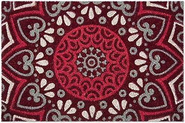 Excelsa Mandala Red Entrance Doormat Coconut Fibre 40 x 60 cm
