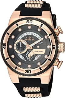 Invicta Men's S1 Rally Stainless Steel Quartz Watch with Silicone Strap, Two Tone, 26 (Model: 24226)