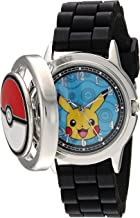 Pokemon Men's Analog-Quartz Watch with Silicone Strap, Black, 18 (Model: POK9025)